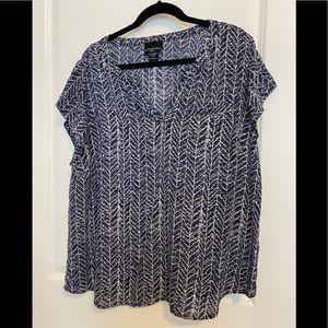 Cynthia Rowley split neck blouse